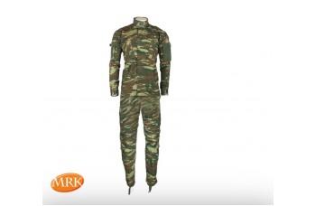 Στολή ACU MRK ,ελληνικής παραλλαγής σε rip-stop ύφασμα 65%polyester-35% βαμβάκι,με τριπλές ραφές για περισσότερη αντοχή.