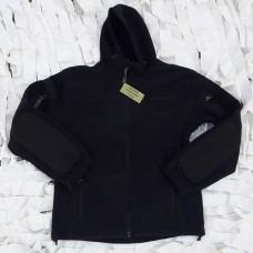 Fleece ζακέτα MRK,χρώματος μαύρη