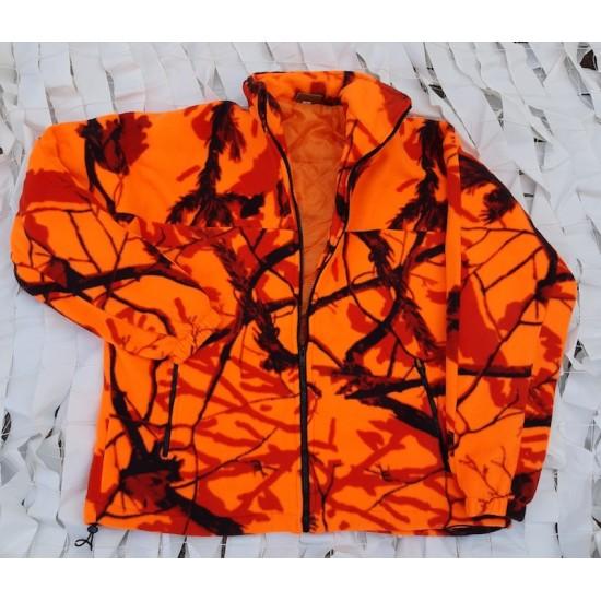 Ζακέτα fleece ΑΕΤΟΣ,χρώματος πορτοκαλί,