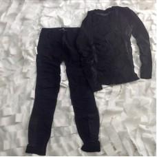 Σετ ισοθερμικα εσωρούχα χρώματος μαύρο SET